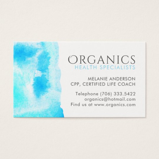 Health and Wellness Business Cards