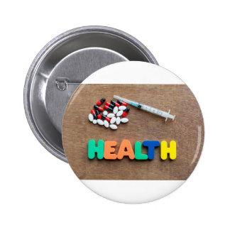 Health 6 Cm Round Badge