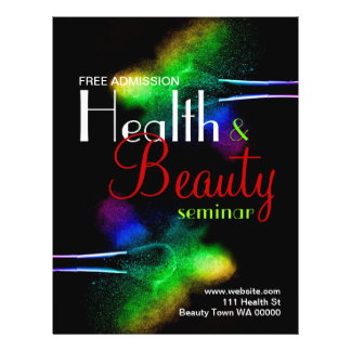 Health Beauty Seminar Flyer Invitation