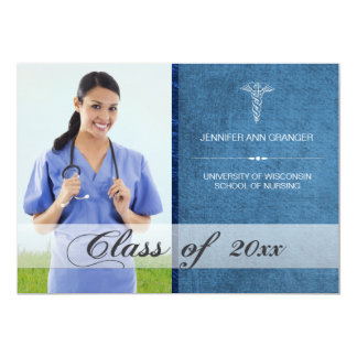 Health Care Medical Graduation Photo Announcement