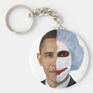 health care obama joker basic round button key ring