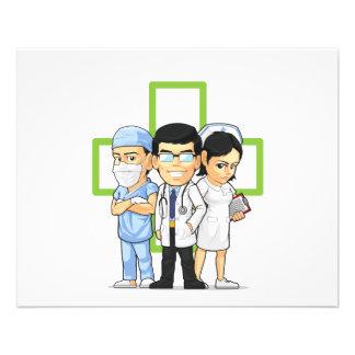 Health Care or Medical Staff - Doctor & Nurse 11.5 Cm X 14 Cm Flyer