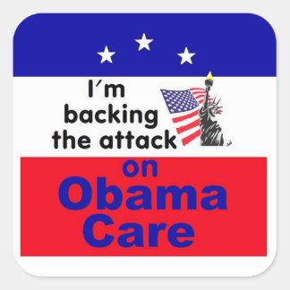 Health Care Square Sticker