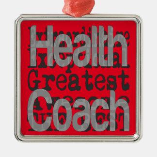 Health Coach Extraordinaire Silver-Colored Square Decoration