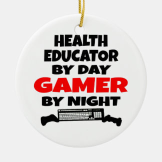 Health Educator Gamer Christmas Ornament