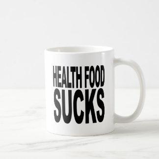 Health Food Sucks Basic White Mug