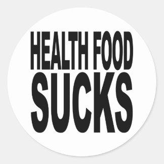 Health Food Sucks Round Sticker