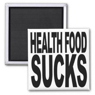Health Food Sucks Square Magnet