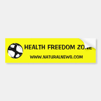 Health Freedom Zone Sticker Bumper Sticker