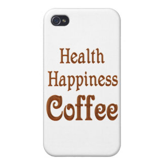Health Happiness Coffee Case For iPhone 4