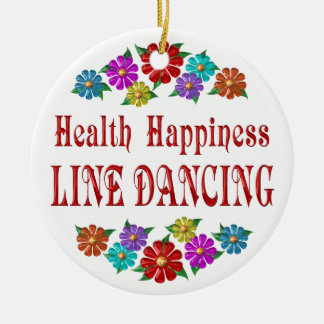Health Happiness Line Dancing Christmas Ornament
