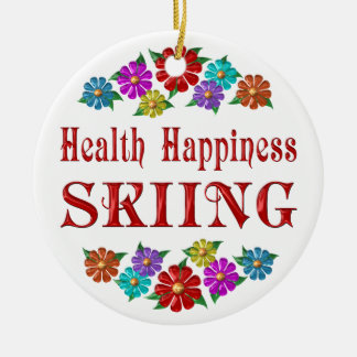 Health Happiness Skiing Christmas Ornament