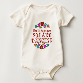 Health Happiness Square Dancing Baby Bodysuit
