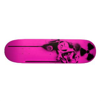 Health Hazard (fuchsia) Skateboard Deck