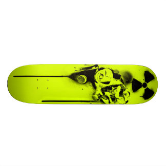 Health Hazard (Yellowish Green) 18.4 Cm Mini Skateboard Deck
