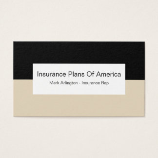Health Insurance Company Rep Business Card