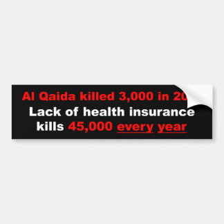 Health Insurance Reform Bumper Sticker