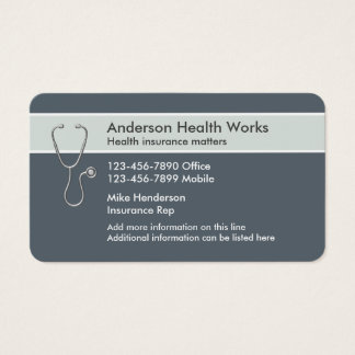 Health Insurance Rep Business Card