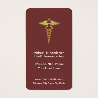 Health Insurance Rep Businesscards Business Card
