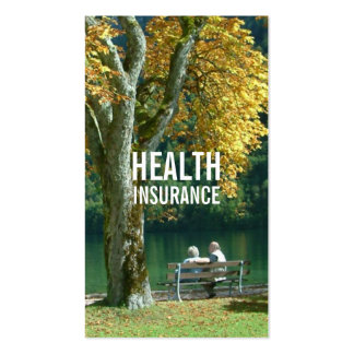 Health Insurance Senior Couple & Tree Pack Of Standard Business Cards