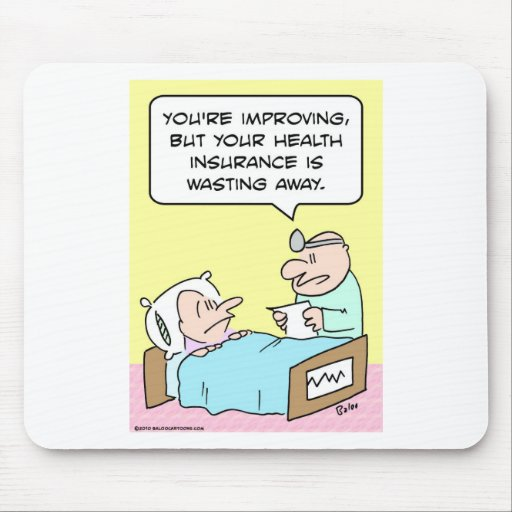 health insurance wasting doctor mouse pad