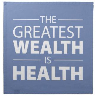 Health Is Wealth, Workout Gym Inspirational Napkin