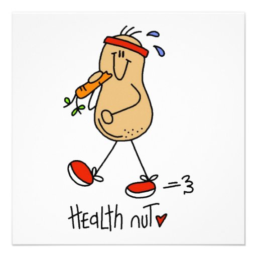 Health Nut T-shirts and Gifts Custom Announcements
