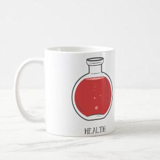 Health Potion: +100 Classic White Coffee Mug