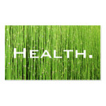 Health Professional Business Card-Natural Green