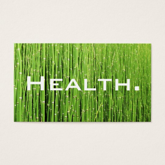 Health Professional Business Card-Natural Green Business Card