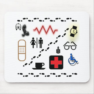 Health Symbols Mousepads