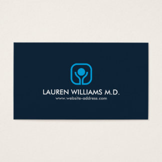 HEALTH, WELLNESS, MEDICAL Blue/Gray Business Card
