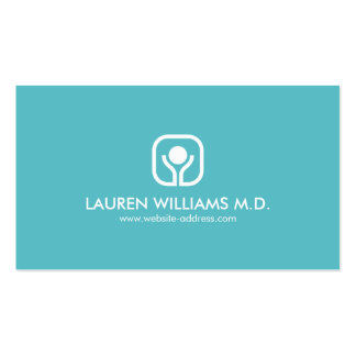 HEALTH, WELLNESS, MEDICAL Teal/Gray Business Card