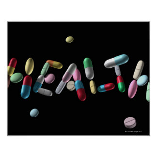 'HEALTH' written with pills Poster