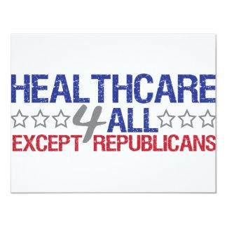 Healthcare 4 all 11 cm x 14 cm invitation card
