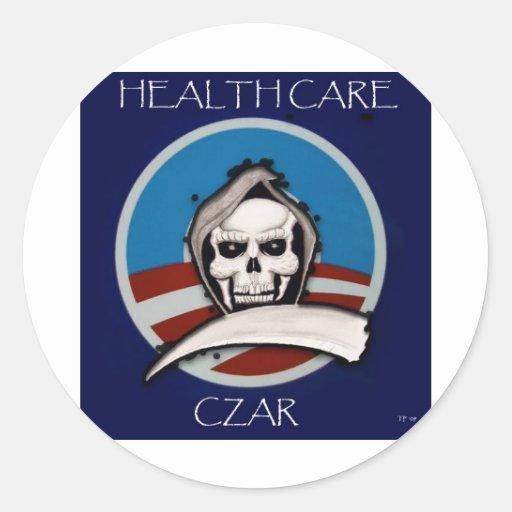 Healthcare Czar Round Stickers
