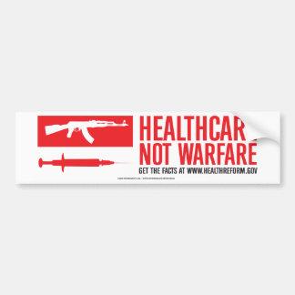 Healthcare NOT Warfare Bumper Sticker