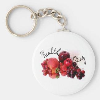 HealthEsense Eating Basic Round Button Key Ring