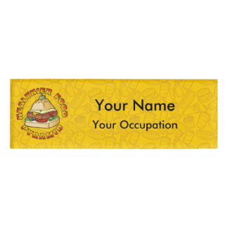 Healthier Food Pyramid Name Tag