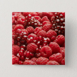 Healthy and nutritious red berries 15 cm square badge