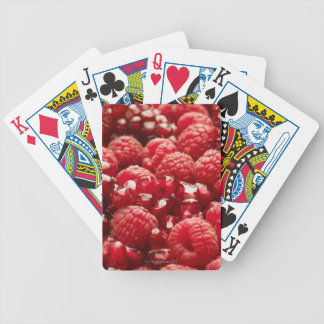 Healthy and nutritious red berries bicycle playing cards