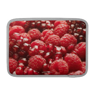 Healthy and nutritious red berries sleeve for MacBook air