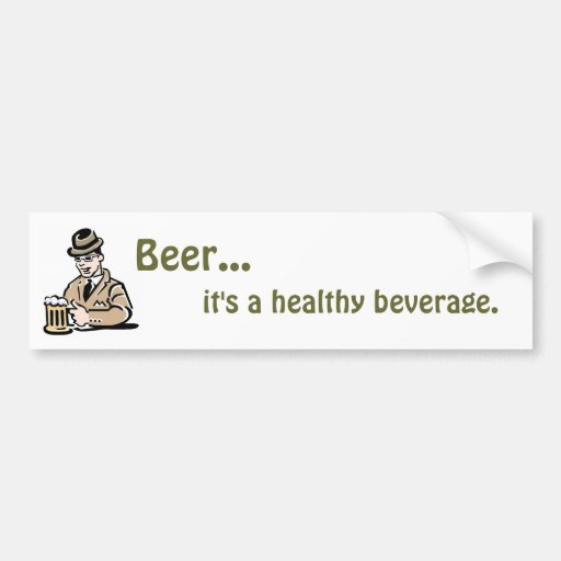 Healthy Beverage Bumper Sticker