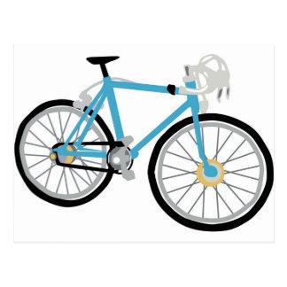 Healthy biking postcard