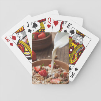 Healthy breakfast playing cards