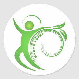 Healthy Chiropractic Care Man Icon Sticker