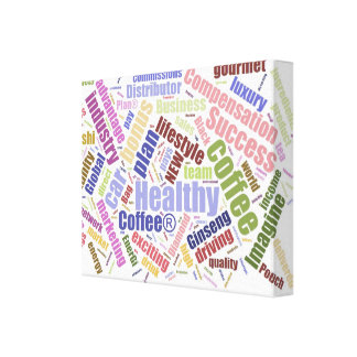 Healthy Coffee Premium Wrapped Canvas (Gloss)