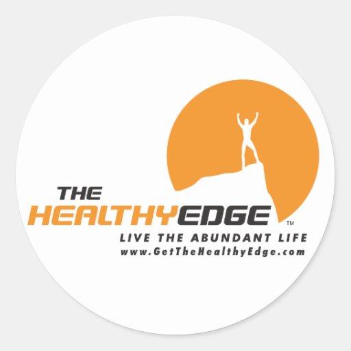 Healthy Edge Stickers (White)