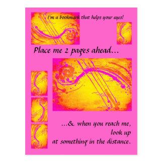 Healthy eyes - bookmark for readers postcard