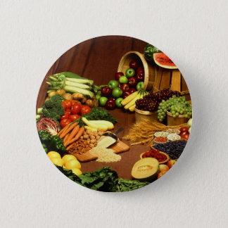 Healthy food 6 cm round badge